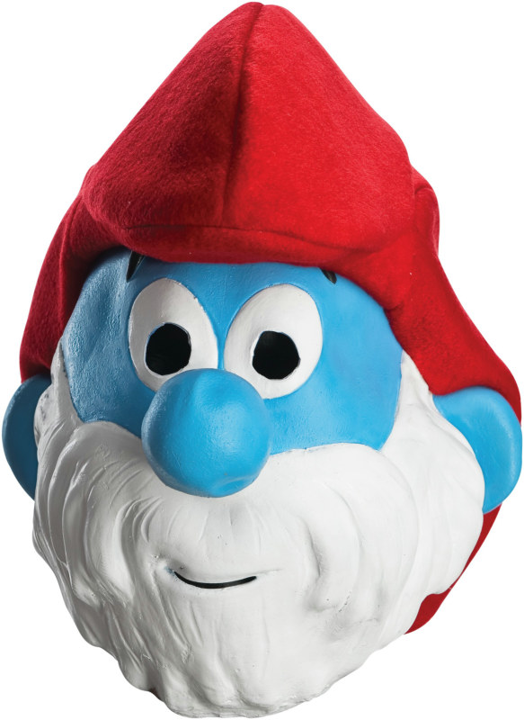 The Smurfs - Papa Smurf 3/4 Adult Mask