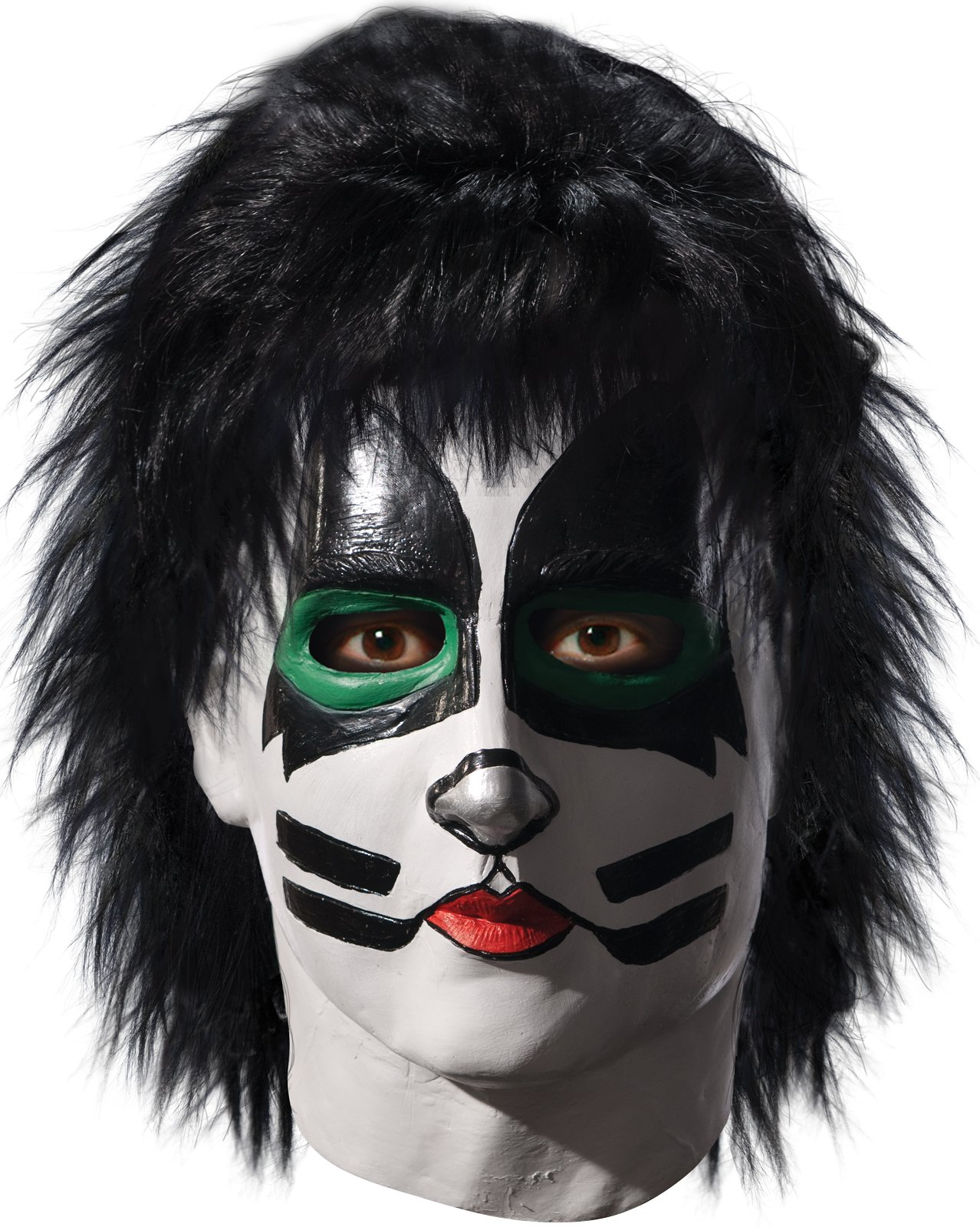 KISS - Catman Latex Full Mask With Hair Adult