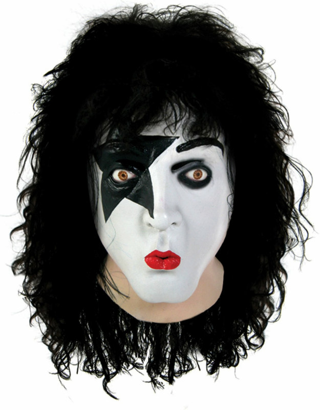KISS - Starchild Latex Full Mask With Hair Adult