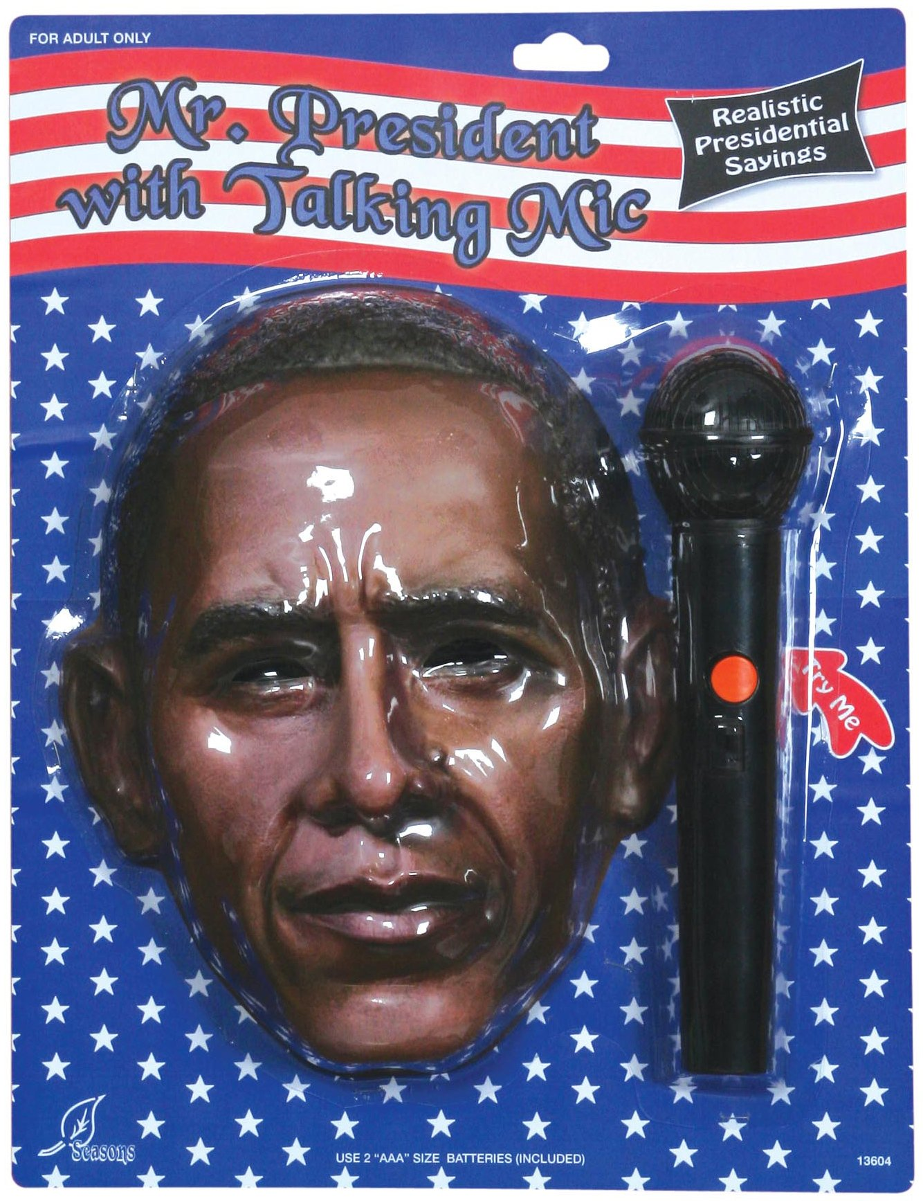 Mr. President Mask With Talking Microphone (Adult)