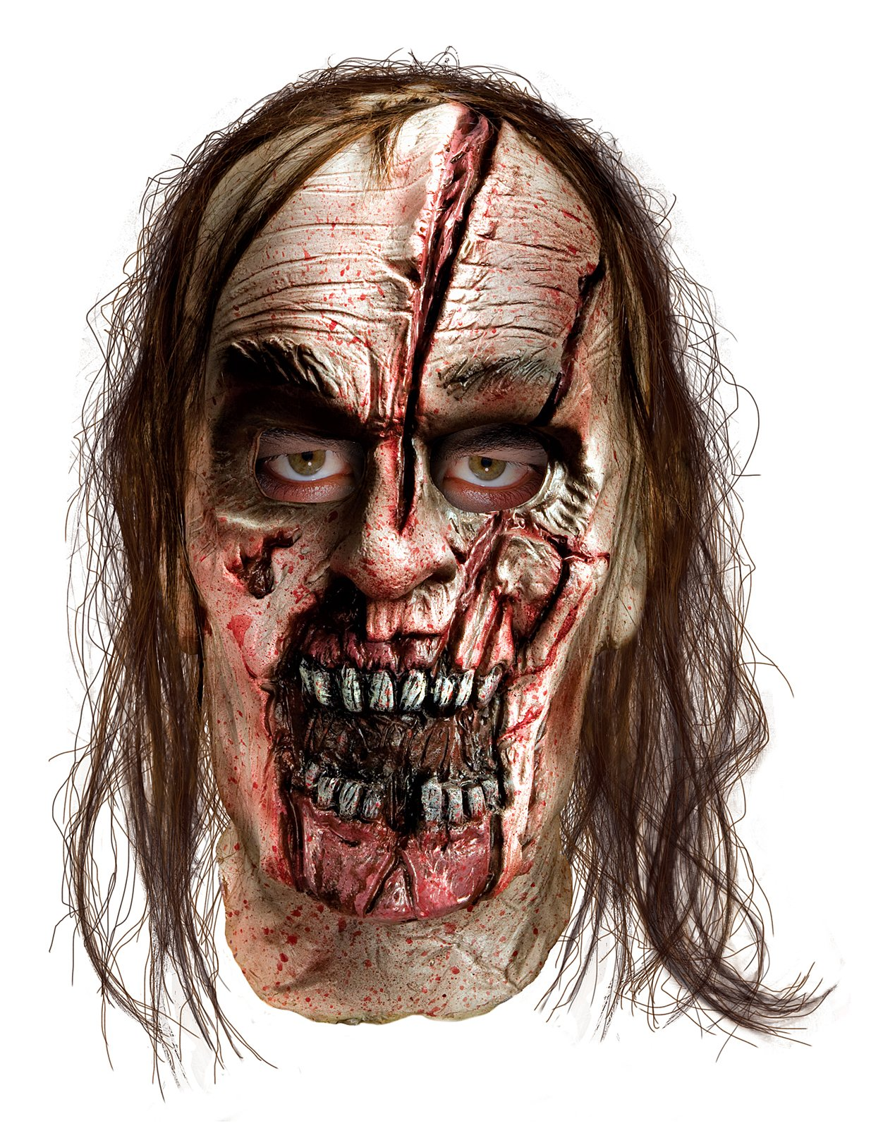 The Walking Dead - Zombie With Split Head Deluxe Mask (Adult)