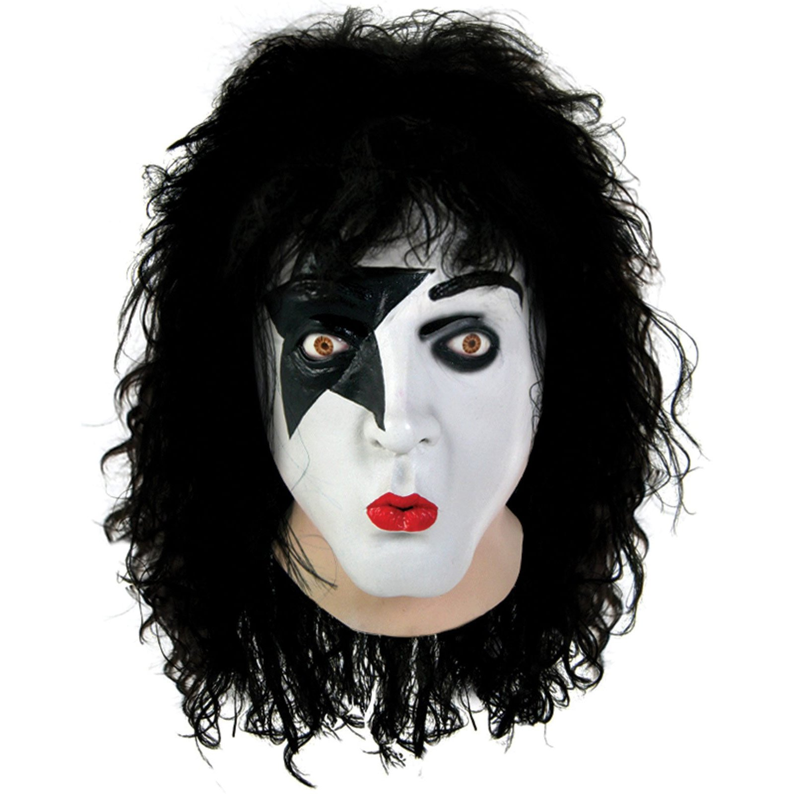KISS Starchild Latex Full Mask With Hair Adult