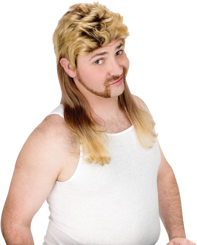 Super Mullet (Blonde) Wig Adult