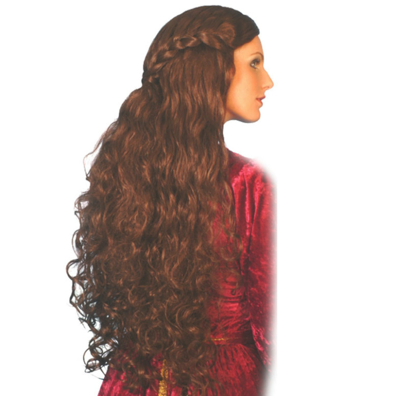 Medieval Long Brown Adult Wig