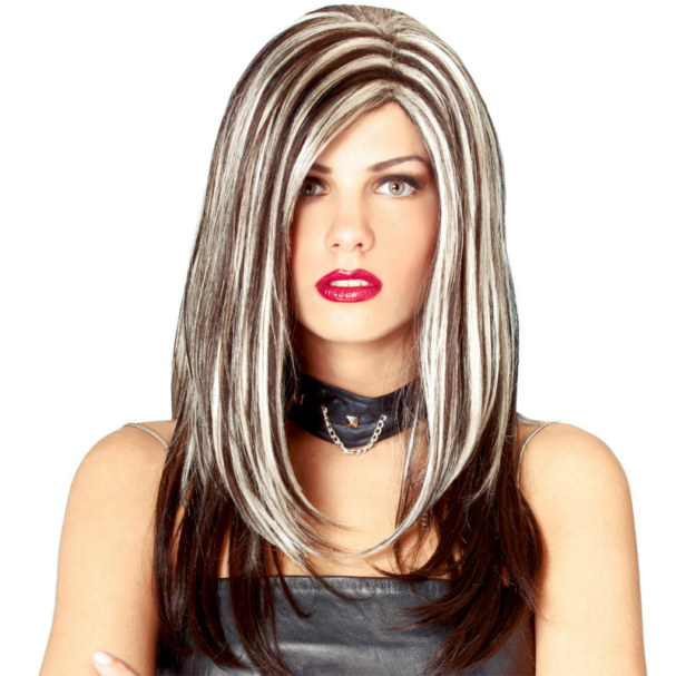 Rock Royalty Wig - Black with Blonde