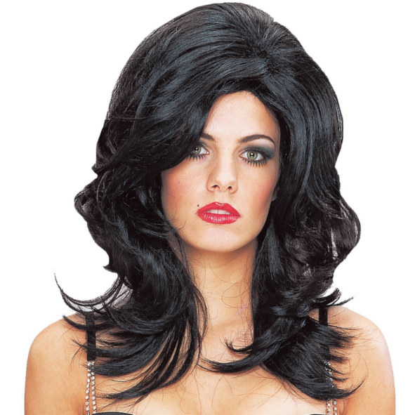 Deluxe Ultra Glam Wig (Black)
