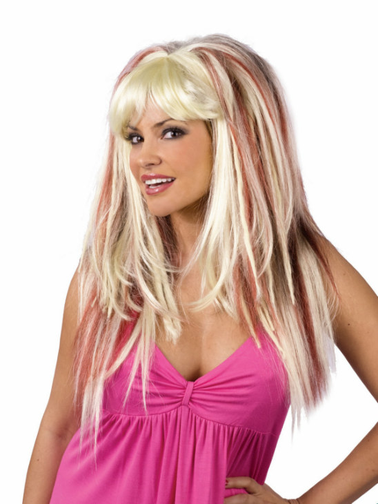 Wild Thing Blonde with Auburn Wig