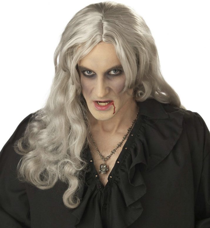Old World Vampire (Grey) Adult Wig