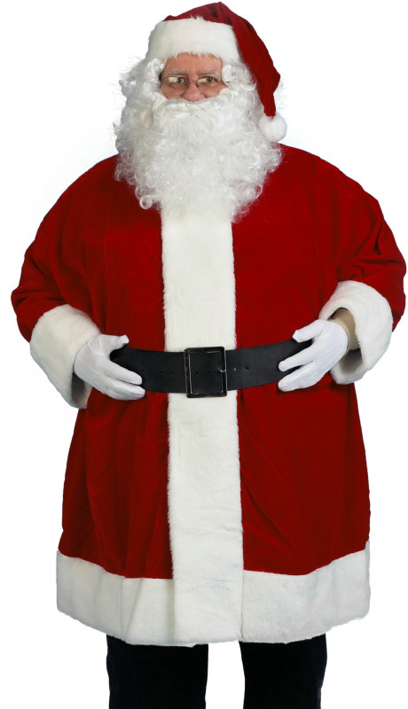 Economy Santa Wig & Beard Set Adult
