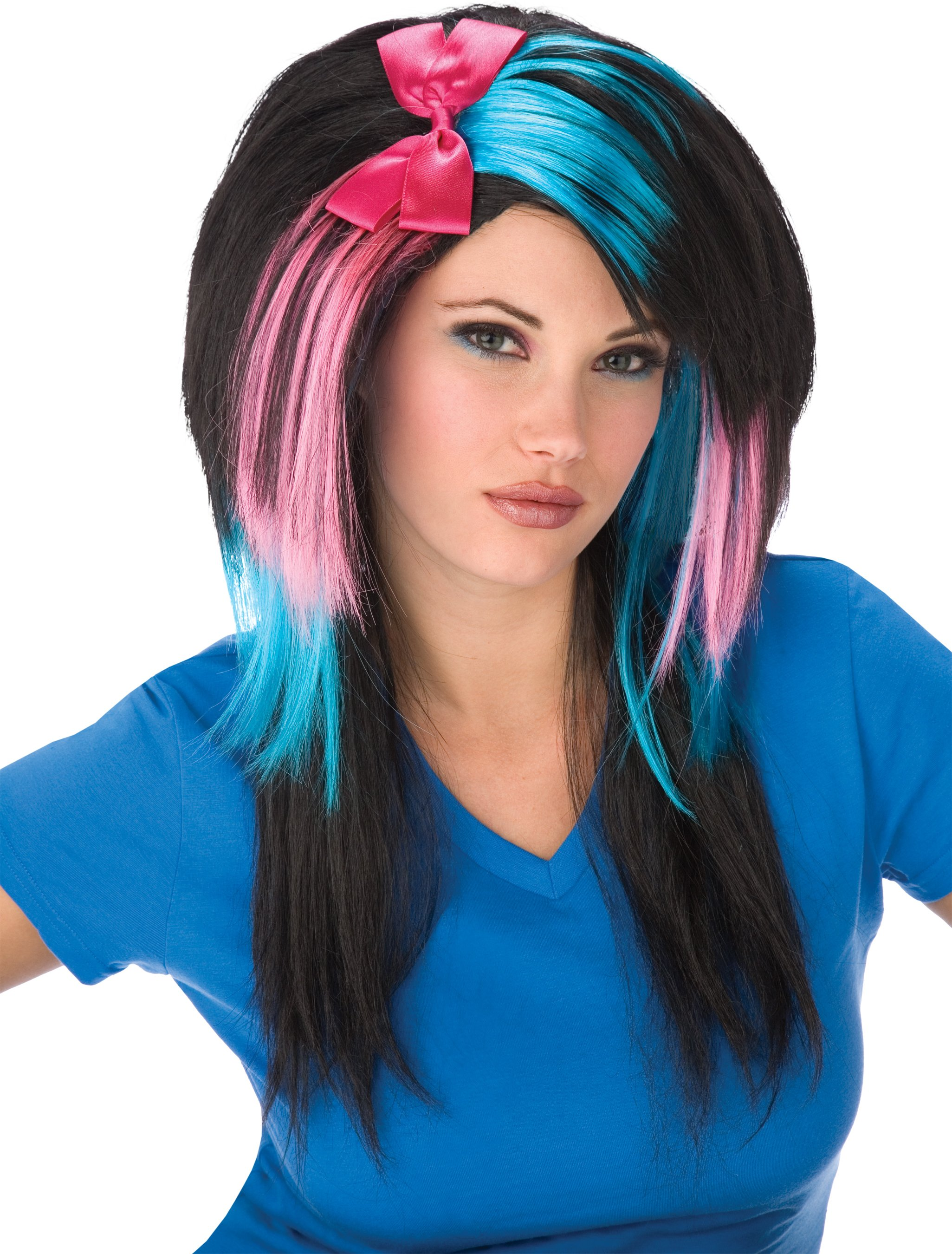 Cotton Candy Scene Girl Adult Wig