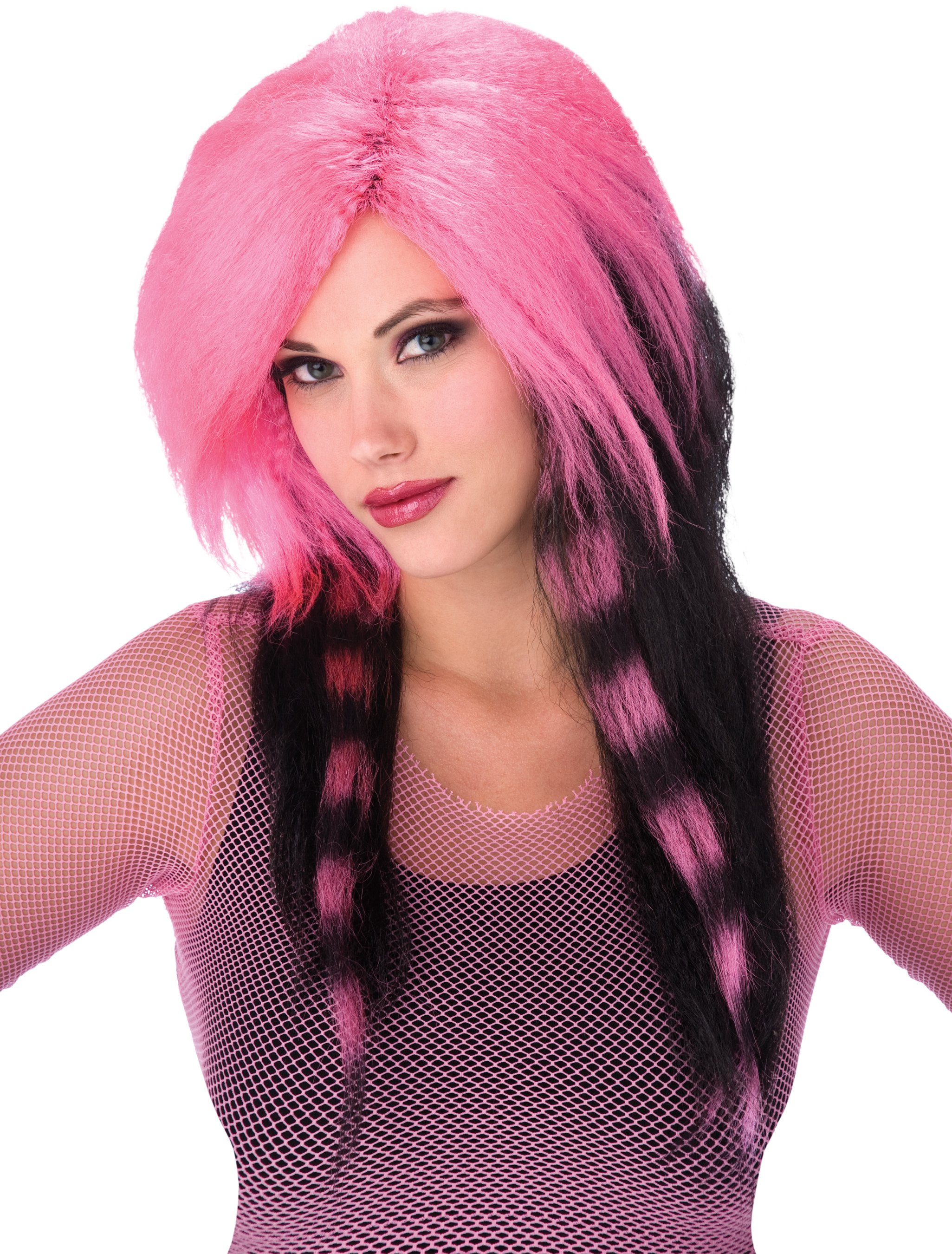 Pink Raccoon Tail Adult Wig