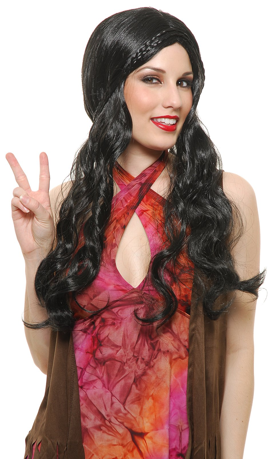 Black Flower Child Wig (Adult)