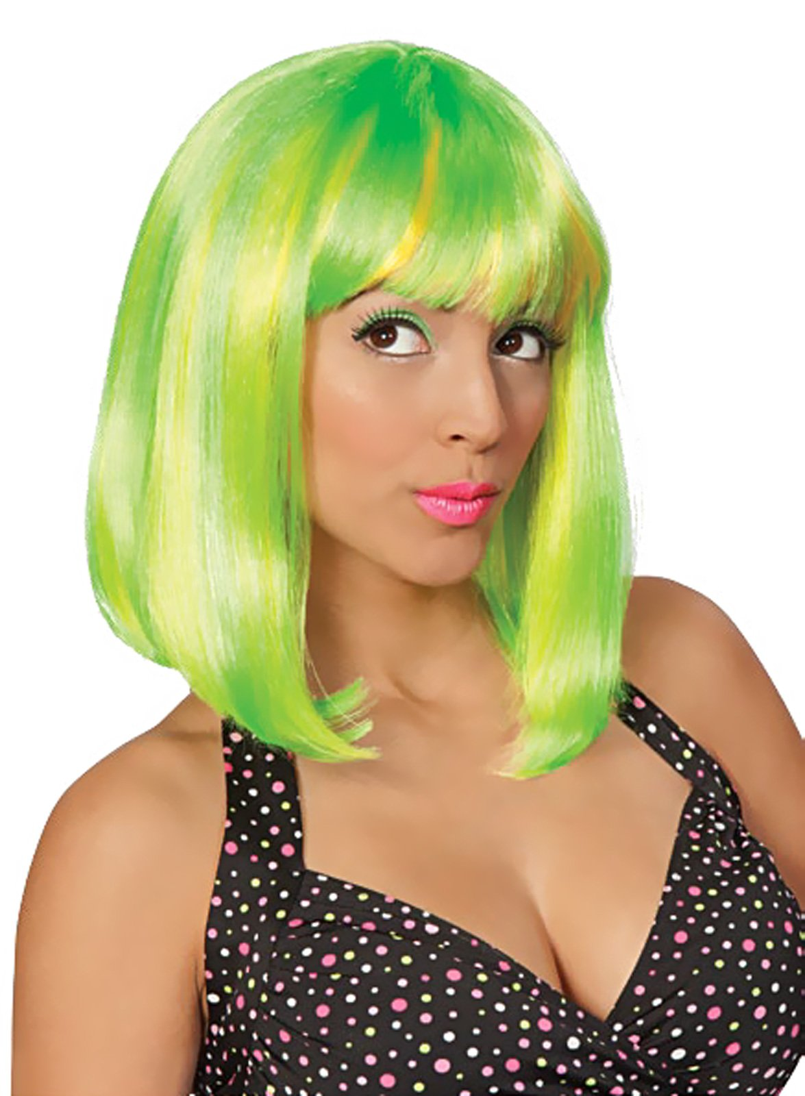 Tropical Flava (Green) Adult Wig