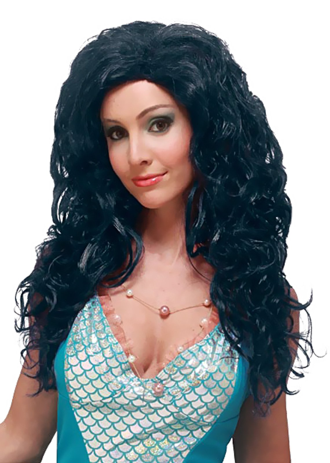 Aqua Bella (Black) Adult Wig