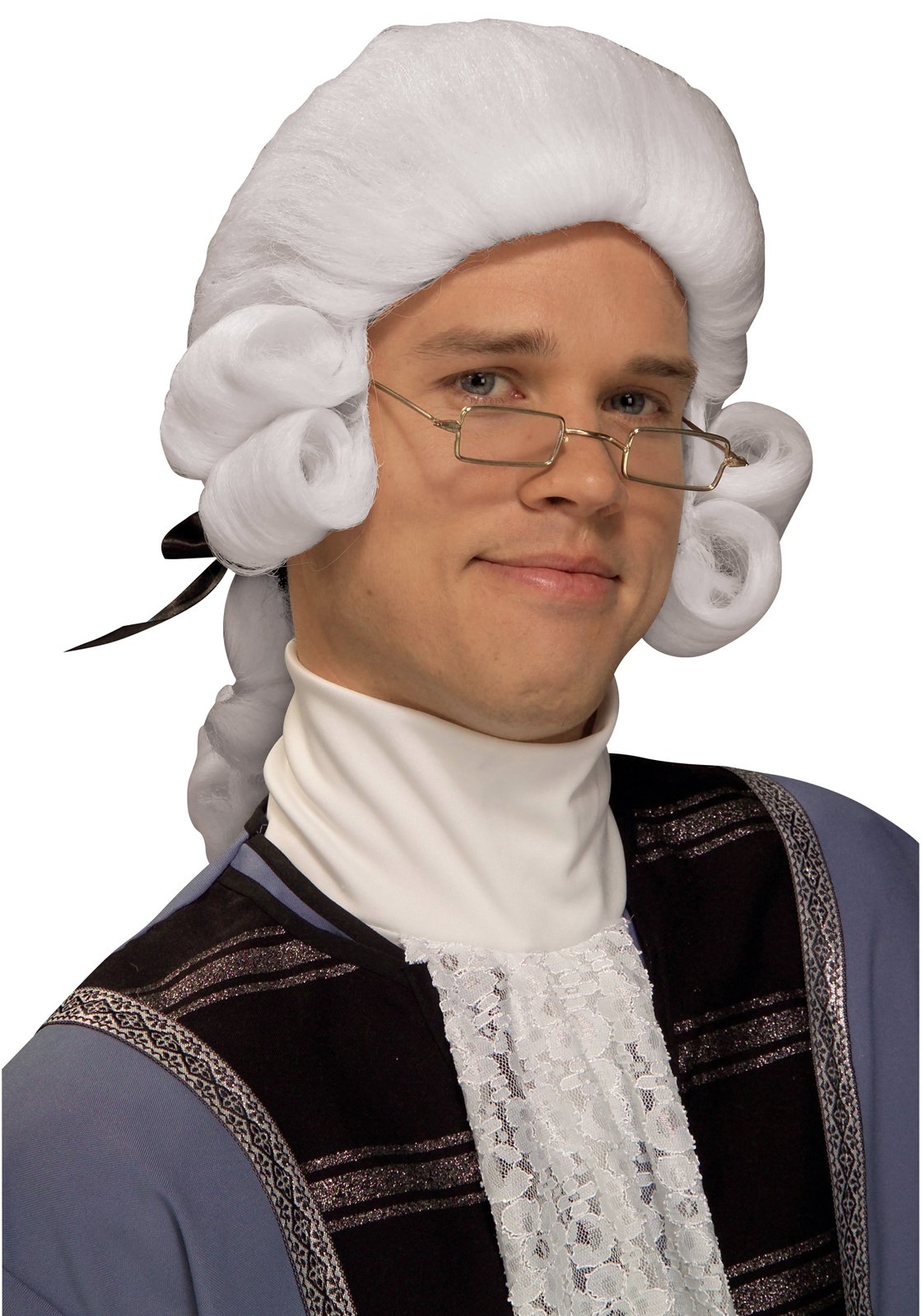 Men's Colonial Adult Wig (White)