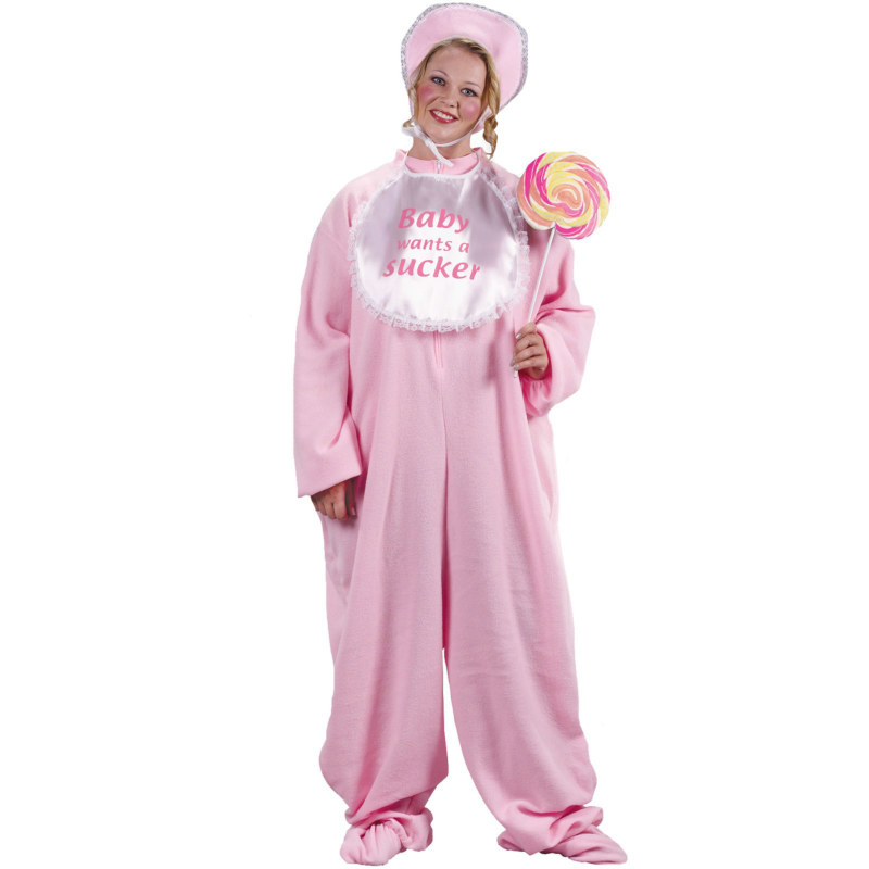 Be My Baby Jammies Plus (Pink) Adult Costume