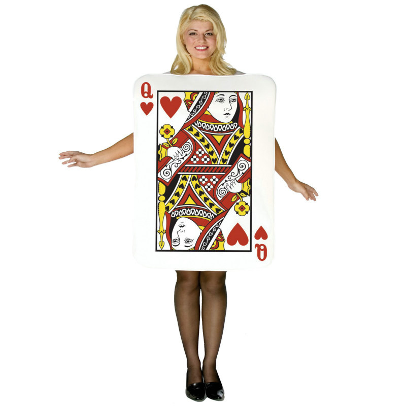 Queen of Hearts Deluxe Playing Card Adult Costume