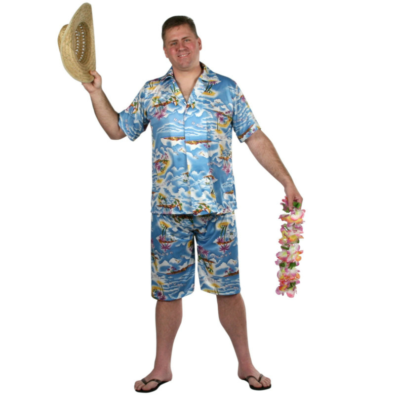 Hawaiian Shirt & Short Set Adult
