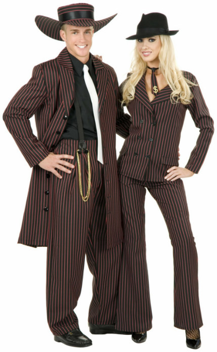 Zoot Suit Black/Red Adult Plus Costume