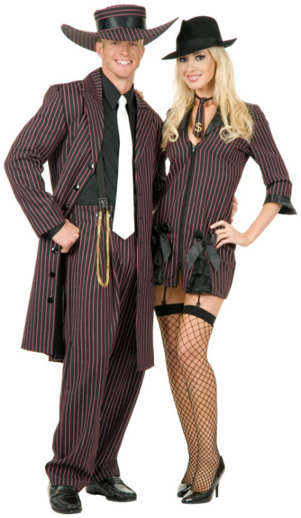 Zoot Suit (Black/Pink) Adult Costume