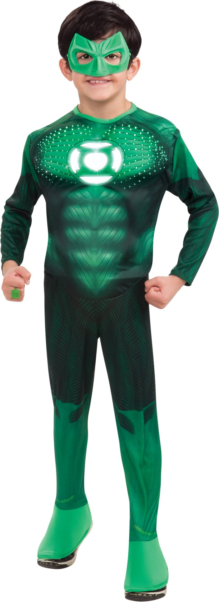 Green Lantern - Hal Jordan Deluxe Light-Up Muscle Child Costume