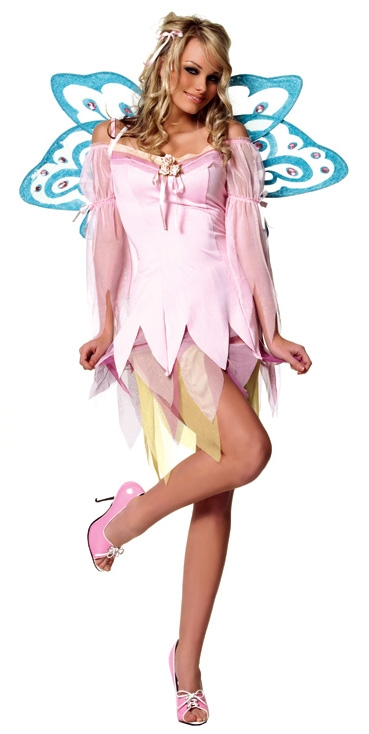 Pink Nymph Fairy Sexy Adult Costume
