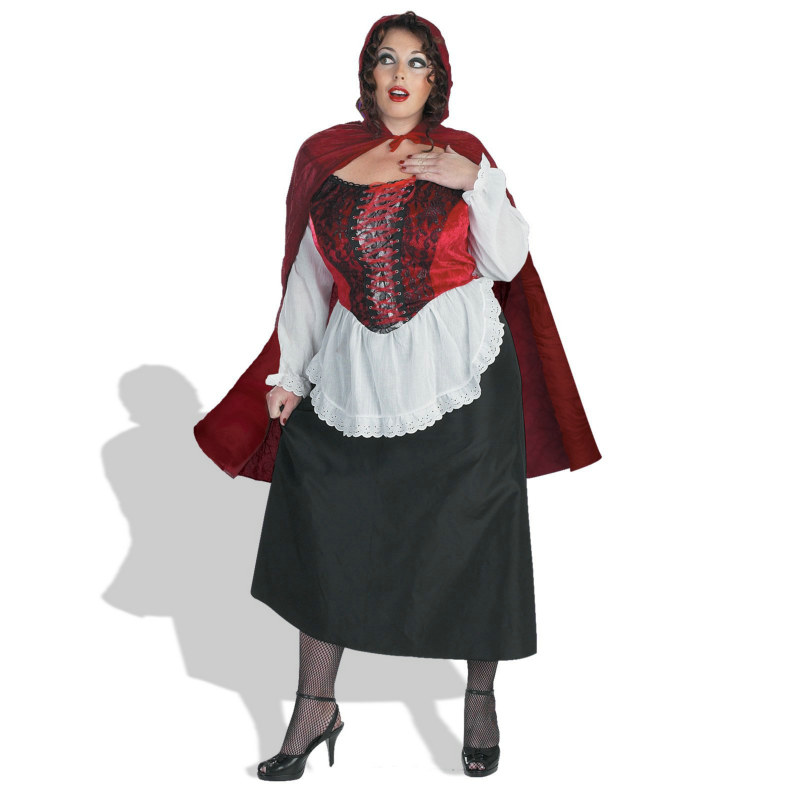 Red Riding Hood Deluxe Plus Adult Costume