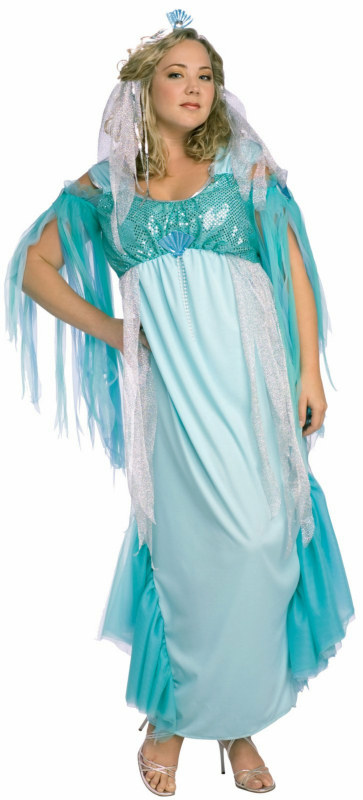 Queen of the Sea Plus Adult Costume