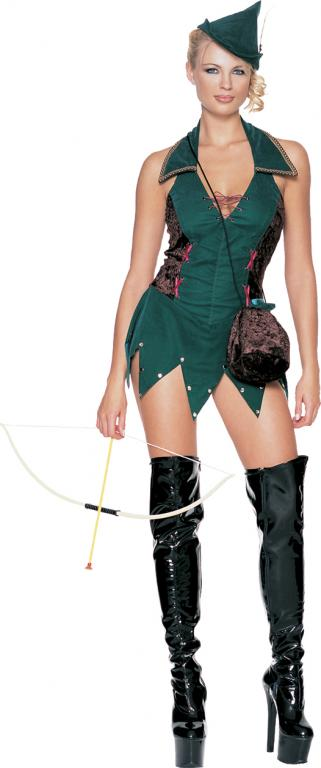 Forest Outlaw Green Sexy Adult Costume