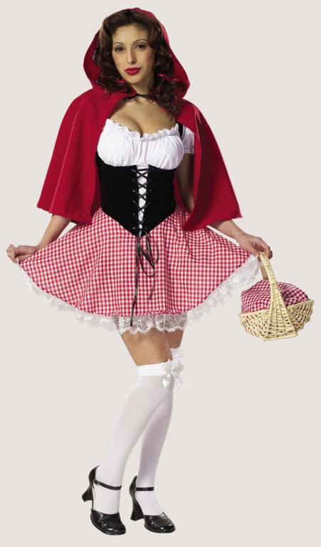 Hot Red Riding Hood Adult Costume