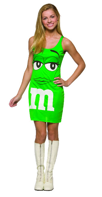 Green M&M Tank Dress Costume