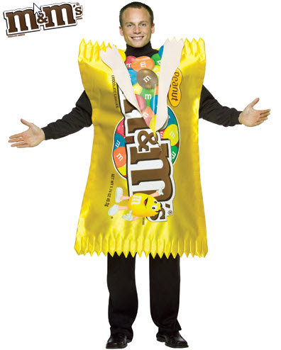M&M Peanut Wrapper Tunic Adult Costume