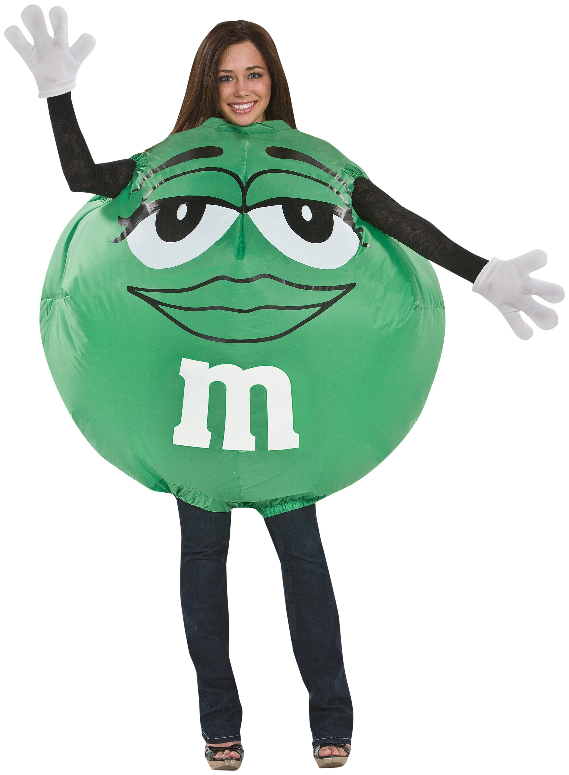 Green M&M Inflatable Adult Costume