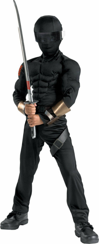 GI Joe - Snake Eyes Classic Muscle Child Costume