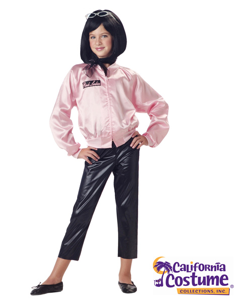 Pink Ladies Satin Jacket Costume For Girl