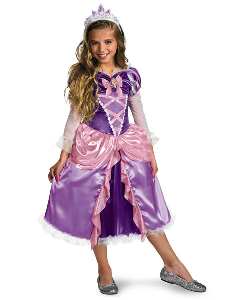 Deluxe Shimmer Disneys Tangled Rapunzel Girls Costume