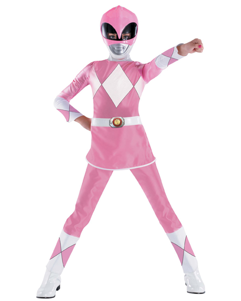 Girls Pink Deluxe Power Ranger Costume