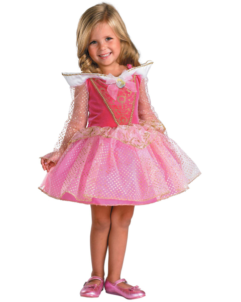 Girls Disney Ballerina Aurora Costume