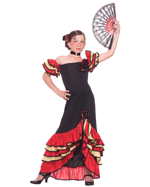 Girls Flamenco Girl Costume