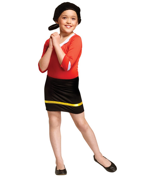 Olive Oyl Child Girls Costume
