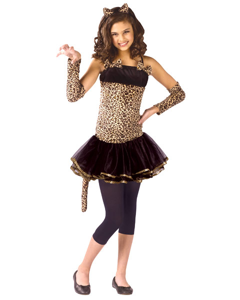 Wild Cat Child Girls Costume