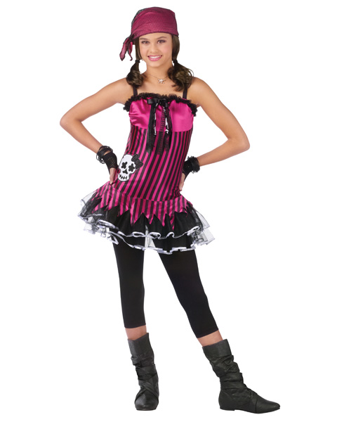 Rockin Skull Pirate Girls Costume
