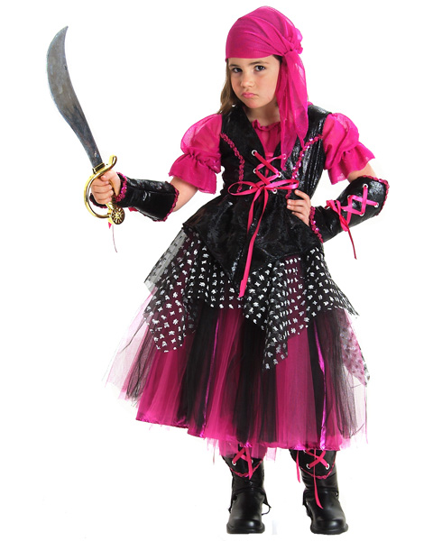 Girls Deluxe Caribbean Pirate Costume