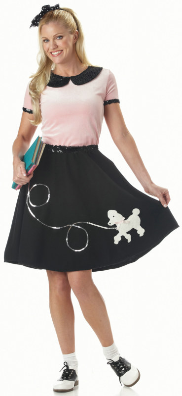 50's Hop With Poodle Skirt Adult Costume - Click Image to Close