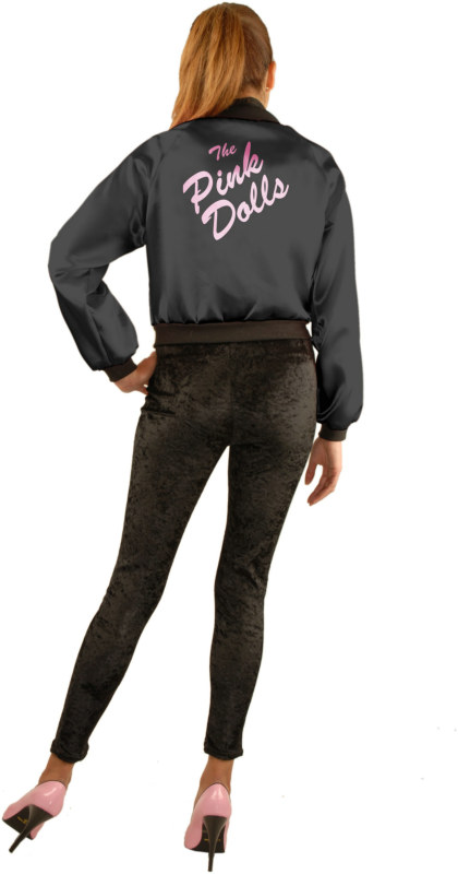 Pink Dolls Jacket (Black) Adult Plus Costume