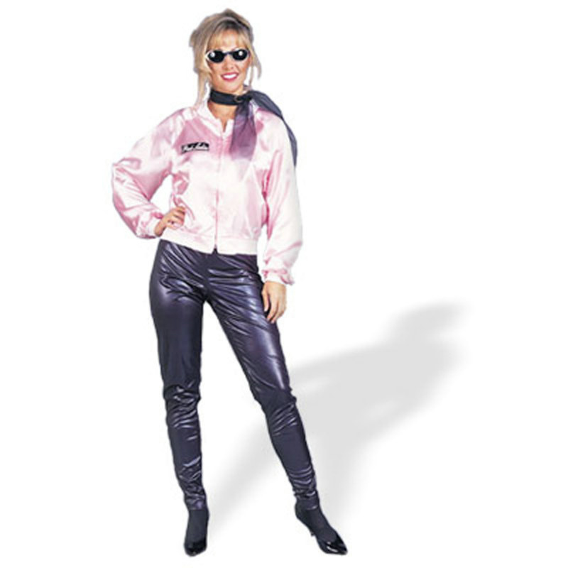 Pink Ladies Satin Jacket Adult Costume