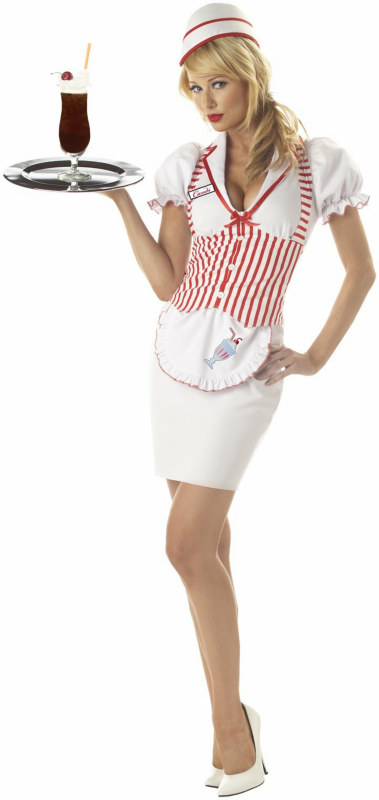 Soda Shop Sweetie Adult Costume