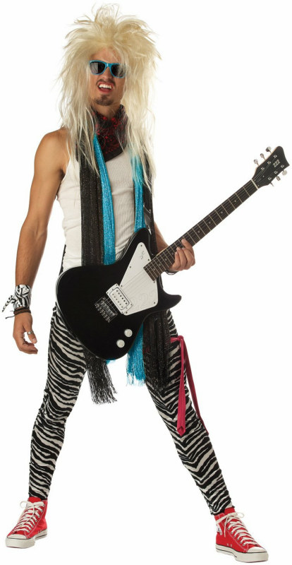 Hair Band Maniac Adult Costume