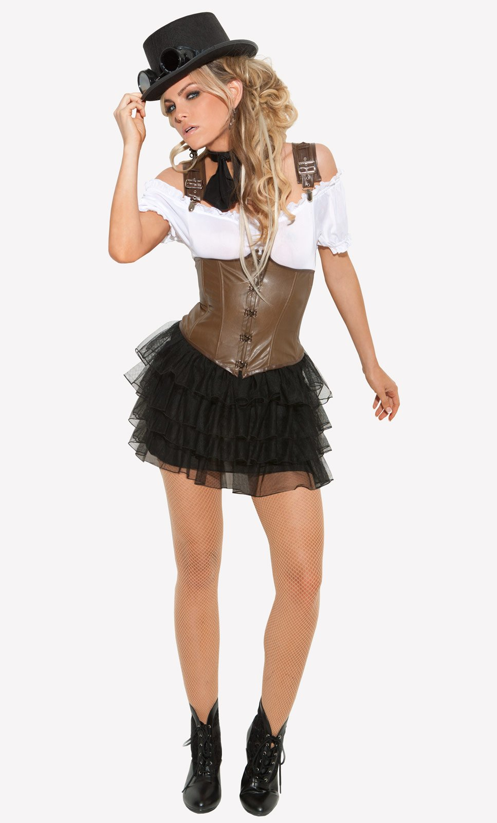 Racy Steampunk Rose Adult Costume