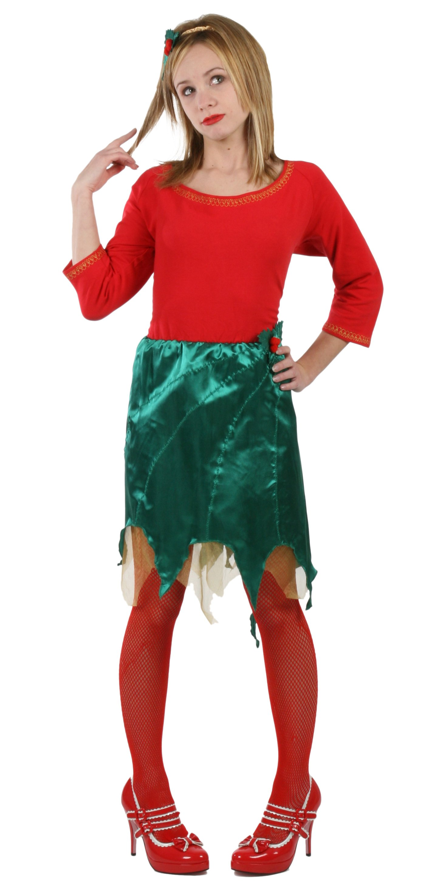 Happy Holly Days Dress Adult - Winter Holiday Classics Costume